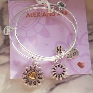 Alex and Ani you are in my heart set of 2 brclts